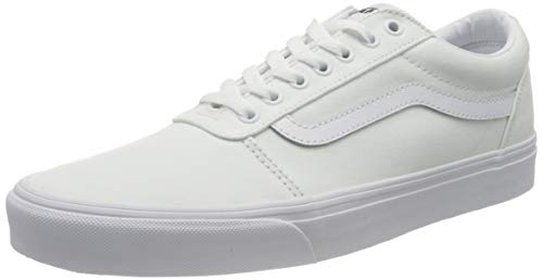 Vans Men's Low-Top Trainers Sneaker, Canvas White White, Womens 12