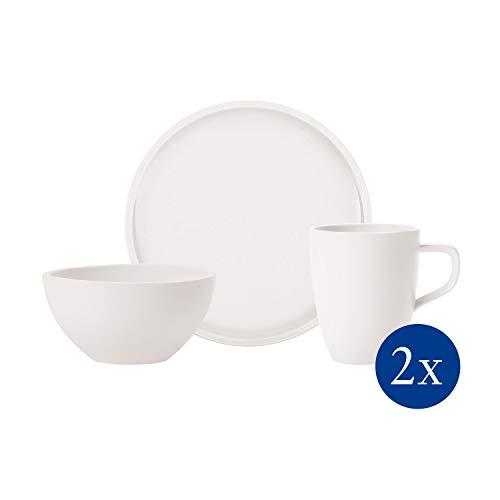 Villeroy & Boch - Artesano Original Frühstücks-Set, 6 tlg., Premium Porzellan, spülmaschinen-, mikrowellengeeignet, weiß