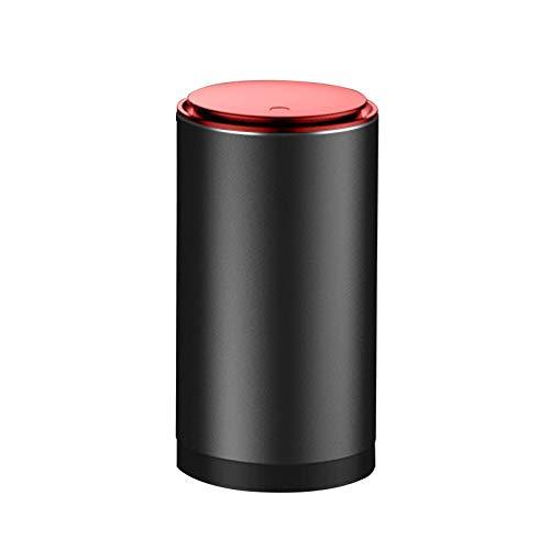 MOVKZACV Mini cubo de basura con tapa de aleación de aluminio para coche, hogar, oficina, escritorio, caja de almacenamiento