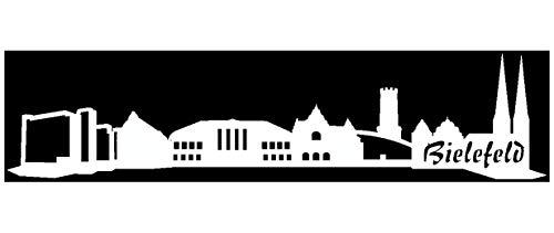 Samunshi® Autoaufkleber Bielefeld Skyline Aufkleber in 8 Größen und 25 Farben (30x7cm weiß)