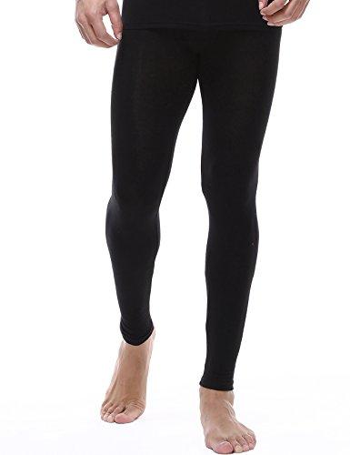 Jueshanzj Homme sous-vêtement Thermique caleçon Long Noir Large