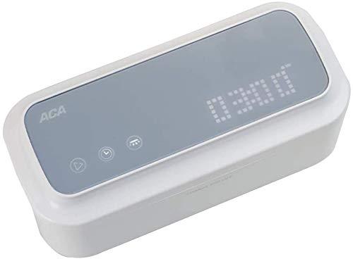HYLL 202 * 88 * 88mm Ultraschall-Reinigungsgerät Edelstahl Liner Kunststoff-Gehäuse Haushaltskleinkontaktlinsen-Uhr Schmuck Brille Zahnspange Schmuck drahtloser Betrieb Reinigungsmaschine Weiß