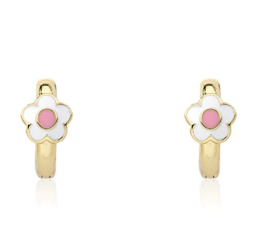 Little Miss Twin Stars Kids Earring - 14k Gold-Plated Huggy Earring - Hypoallergenic And Nickel Free For Sensitive Ears