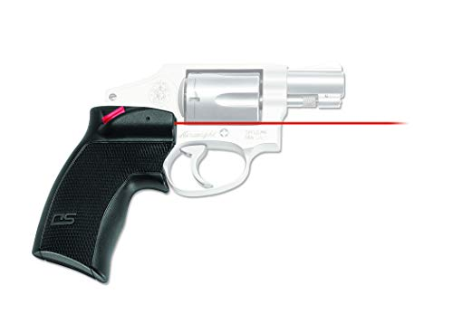 Crimson Trace DS-124 Defender Series Accu-Grips Red Laser Sight Grips for Smith & Wesson J-Frame and Taurus Small Frame Revolvers