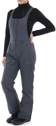 SkiGear Women s Essential Insulated Bib Overalls Steel Large 12 14 Long product image