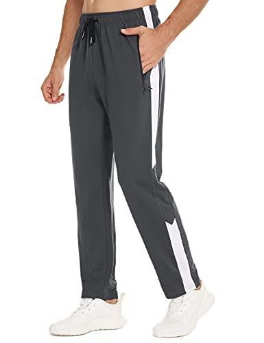 Sykooria Pantalones Deportivos para Hombre con 2 Bolsillos con Cremallera Pantalon Chandal Hombre Cintura EláStica Ajustable Pantalones Casual Deporte Entrenamiento Fitness