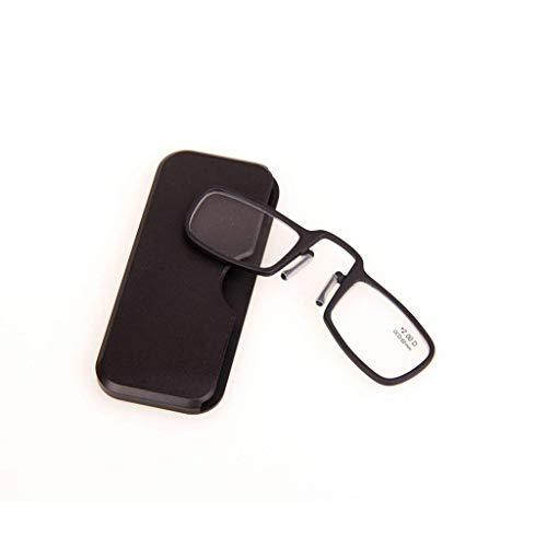 CKQ-KQ Glas met Light Ongewapende leesbril - Rechthoekige 4-Color Nose-Length leesbril, Portable Mirror Box, waar je ook gaat 2X 4X 25x Lightweight Handheld Glass