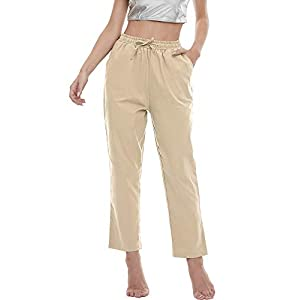 Women's Casual Trousers  Comfort Pencil Pants with Pockets
