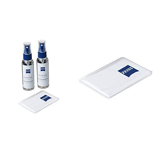 ZEISS Reinigungsspray – Reinigungsspray für Objektive, Filter, Brillengläser, Ferngläser & Mikrofasertuch – Mikrofasertuch für Objektive, Filter, Brillengläser, Ferngläser und LCD-Displays