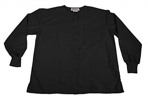 NATURAL UNIFORMS Women's Scrub Jacket Medical Scrub Jacket XL Black
