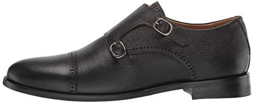 MARC JOSEPH NEW YORK Men's Leather Double Monk Dress Shoe Oxford