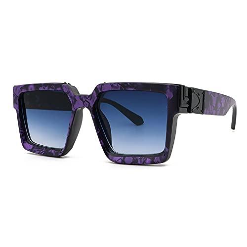 NBJSL Gafas de sol retro con montura grande para hombres y mujeres Protección UV Gafas de sol Exquisito embalaje de regalo