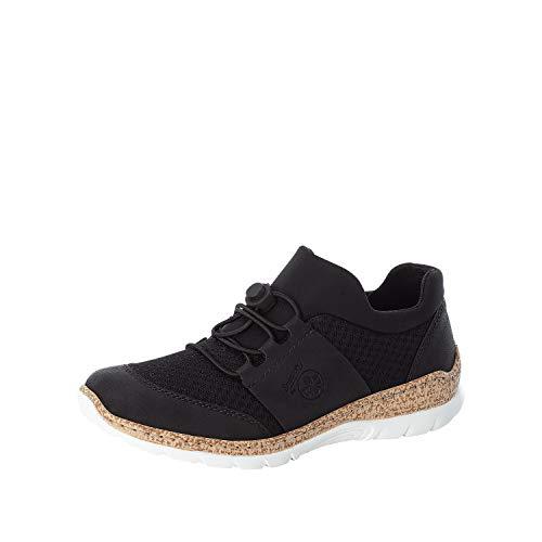 Rieker Mujer Botines N42U8, señora Bajo,Zapatos Bajos,Zapatos de Calle,de Ocio,Deportivos,Negro (Schwarz / 00),40 EU / 6.5 EU
