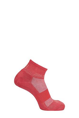 SALOMON Socks Evasion - Pack de 2 chaquetas, Calcetines Evasion paquete de 2, Unisex adulto, color Winetasting/Cayena, tamaño large