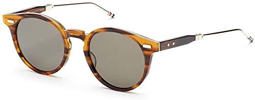 THOM BROWNE TB 806 B-WLT-GLD Walnut-12K Gold w/ G15-AR Sunglasses