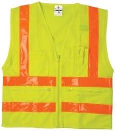 ML Kishigo 1197 Combined Performance 5-Pocket Safety Vest - Yellow/Lime 3XLarge (3 Units)