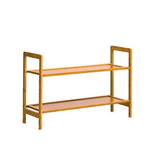 MFWallMirror Shoe Rack Bamboo Schoenrek 50 cm breed Slippers plank Opslagrek Multifunctioneel Vrijstaande ruimte Draagbare handgreep