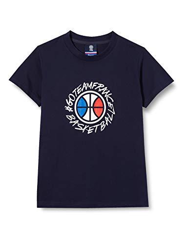France Basketball Saison 20/21 Supporters Enfant Tee Shirt, Bleu, 12 Ans Garçon