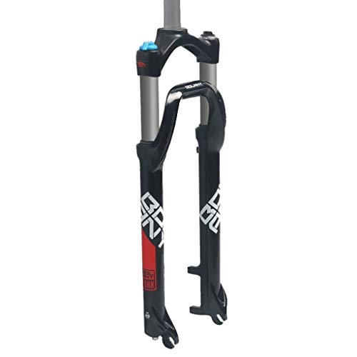 LSRRYD Horquilla para Bicicleta Horquilla Suspensión Hidráulica para Bicicleta 26 Pulgadas 135mm Neumático 4.0 PM Disc Brake Bloqueo Hombro 1-1/8