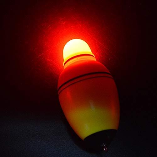 Wuqiang Pesca boya Flotante, 2 Piezas de Equipos de Pesca electrónico de luz Nocturna Flotador Luminoso del Flotador de Agua de mar de plástico Equipos de Pesca Caña de Pescar Flota (Color : Color2)