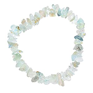 Premium Natural Aquamarine Chip Crystal Bracelet