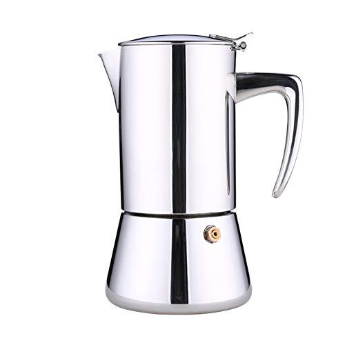 Moka Cafetière Cafetière en acier inoxydable espresso cafetière maison brassage cafetière, pour gaz ou électrique en céramique cuisinière, espresso Shot Maker