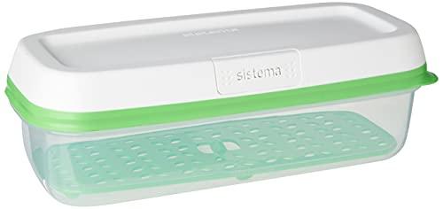 Sistema Freshworks 1.9 Litre Boîte de Conservation rectangulaire, 30.3 x 14.2 x 10.1 cm
