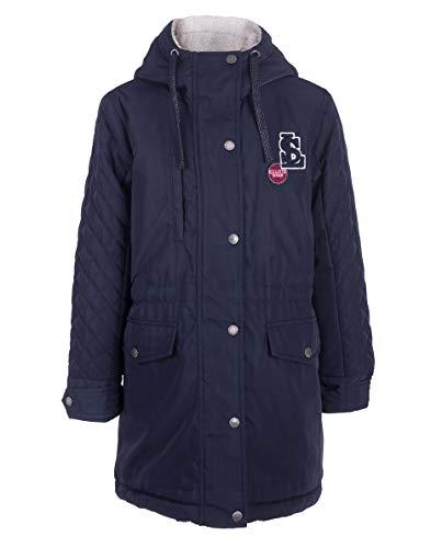 GULLIVER Mantel Mädchen Kinder Parka Jacke Herbst Mantel Blau Knielang mit Kapuze 7-10 Jahre 122-140 cm
