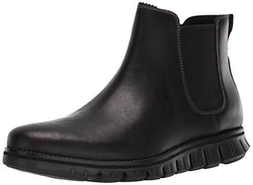 Cole Haan Men's Zerogrand Chelsea Waterproof Boot, Wp Black Leather, 9 M US