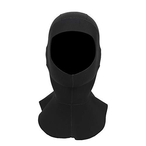Keenso Gorra de Neopreno de 3 mm, Gorro de Buceo con Capucha, Equipo de protección Solar con Hombro para Hacer Snorkel, Surf, natación, Negro