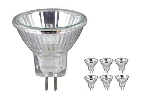 Bombillas halógenas MR16 GU5.3 50W 12V lámpara dicroica – Regulable, 680 lúmenes, brillo instantáneo completo (paquete de 6)