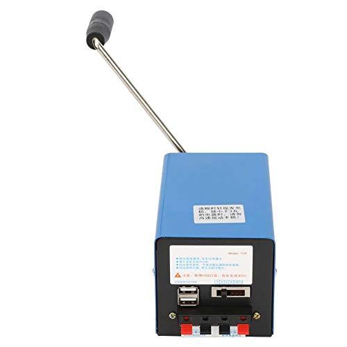 Dpofirs Generador de manivela de 2000 RPM, generador de manivela portátil, generador de manivela, generador en Miniatura, Herramientas para Viajes de Campo, para Carga USB, Suministros de
