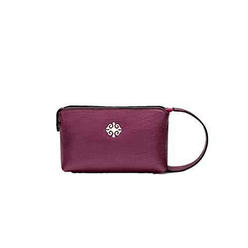 Subobo - Bolso de mano para mujer, diseño de bola, multicolor, Cuero sintético de súper fibra, Rojo, 20x13x4.5cm