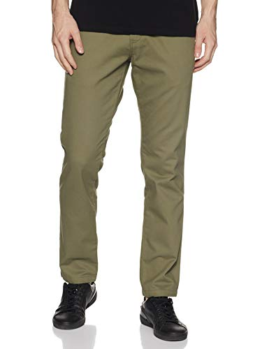 Amazon Brand - Symbol Men's Straight Fit Casual Trousers (SYMCT-TO-02_Lt. Olive_30W x 31L)