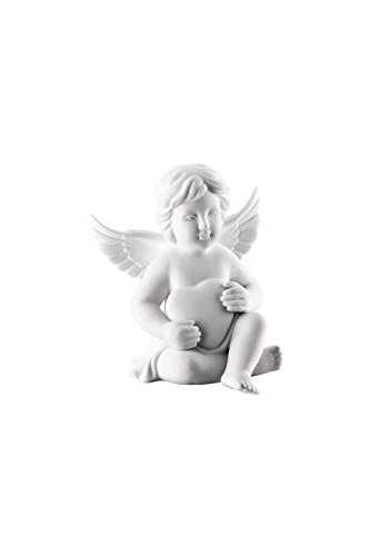 Rosenthal - Engel mit Herz - groß - Weiss matt - Porzellan - Höhe 14,5 cm