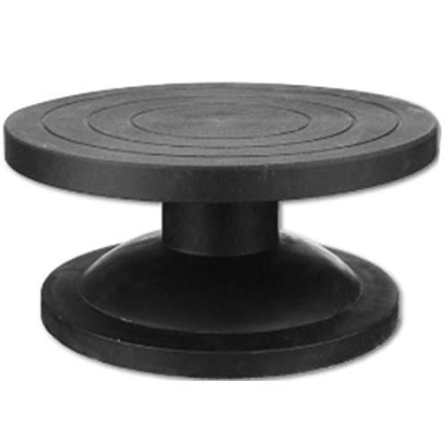 SODIAL 30Cm Tour de Poterie Plateforme de ModéLisation Modèle de Plateau Tournant Sculptant Faire de L'Argile Outils de Sculpture Rotary Rond Outils de Poterie Plaque Tournante Noir