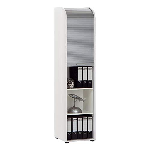 13Casa - Mcbeal A8 - Schedario. Dim: 45,5x39x190 h cm. Col: Bianco. Mat: Nobilitato.