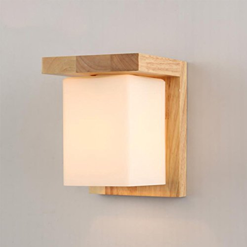 Moderne Chambre Mur Lampe Bois Couloir LED Mur Lampe Enfants Lampe Design Moderne Mur Lampe Lampe De Chevet Creative Luminaire Mur Projecteur Intérieur Plafond Décoratif Éclairage Mural Chambre Balcon
