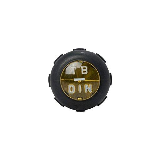 Klein Tools 612-4 Screwdriver, Flat Head Terminal Block Screwdriver, 1/8-Inch Cabinet Tip, 4-Inch Round Shank