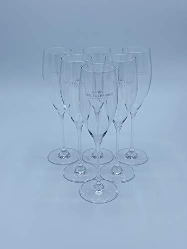 6X Moët & Chandon Champagner Gläser, geeicht