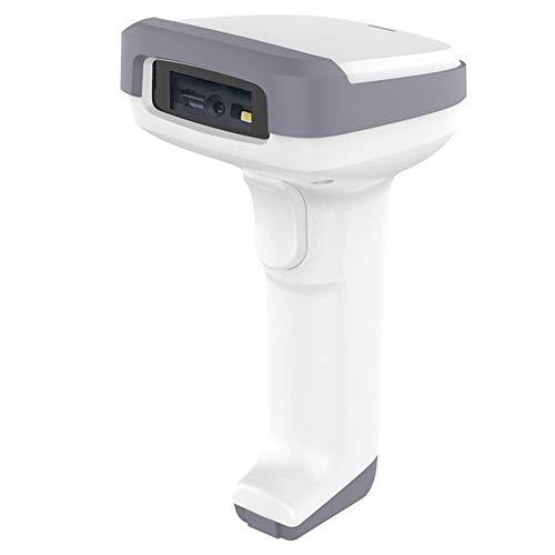 SXYB Barcode-Scanner, Preisscanner-Gun, 2000mAh-Batterie, USB-Aufladung, ABS, TPU-Material, Anti-Shock, für Supermarkt, Lebensmittelgeschäft oder Lager (weiß)