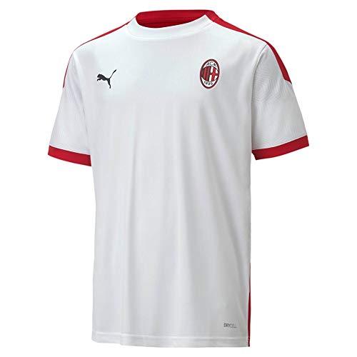 PUMA Maglietta da Allenamento Unisex ACM in Jersey Jr, Unisex - Adulto, T-Shirt, 758192, Puma White-Tango Red, 176