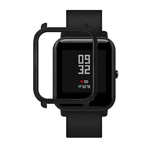 Xiaomi Huami Amazfit Bip Smartwatch Protector Case Funda SIKAI Moda Slim Colorido Marco Caso Cubierta Proteger Shell para Younth Reloj Carcasa Lightweight Hülle Bumper Cover Schutzhülle (Noir)