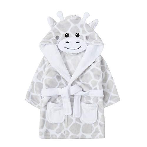 Albornoz con capucha para bebé, diseño de oso panda y pato Blanco jirafa 18-24 Meses