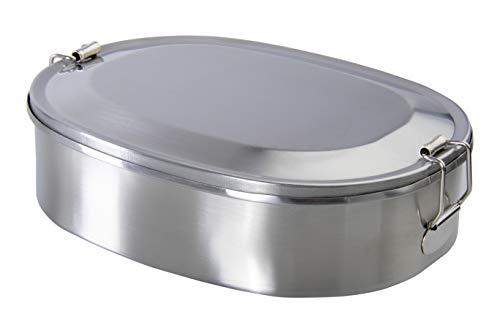 wenco Lunchbox/Brotdose aus Edelstahl, Langlebig und nachhaltig, Spülmaschinengeeignet, 5,2 x 14 x 19,2 cm, Better Choice, Silber, 532389
