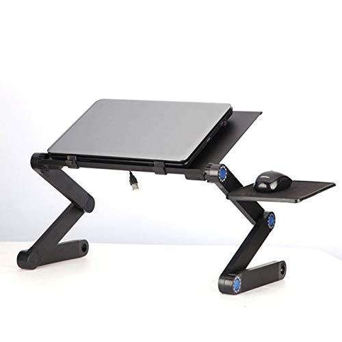 Yhtech Modern Aleación de aluminio portátil de escritorio plegable portátil de la tabla del ordenador portátil tabla del escritorio del sofá cama de pie turística sostenedor de la bandeja libro Utiliz