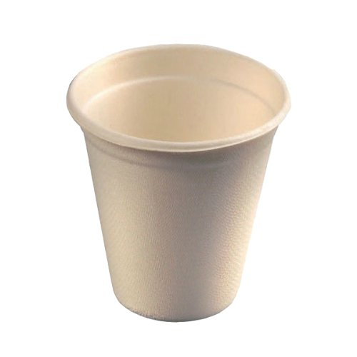 Sugarcane Cup (Case of 50), PacknWood - Compostable and Biodegradable Party Cups (8 oz, 3.15