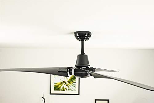 Industrie Design Deckenventilator Vourdries inklusive Fernsteuerung, 142cm Durchmesser, schwarz, ohne Beleuchtung