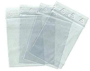 Lot 100 sachet à fermeture zip format 80 x 120 mm (8 x 12 cm) pochette qualité alimentaire, prélèvement, au norme CEE 50 microns