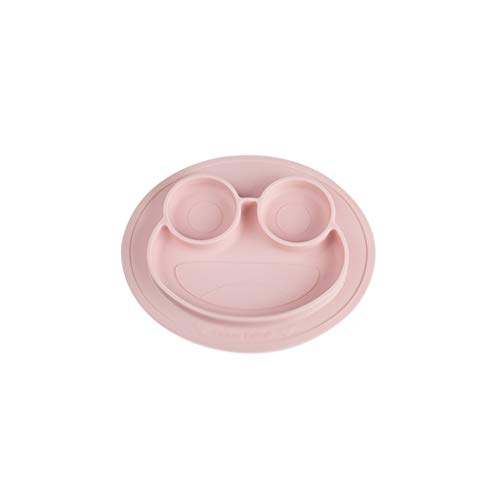 Plaques de table en silicone antidérapantes divisées pour les enfants en bas âge avec une forte aspiration, adaptées à la plupart des plateaux pour chaises hautes sans BPA approuvé par la FDA